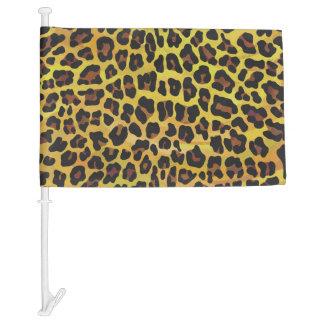 Leopardo Brown e impresión amarilla