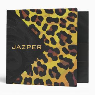 """Leopardo Brown e impresión amarilla Carpeta 2"""""""