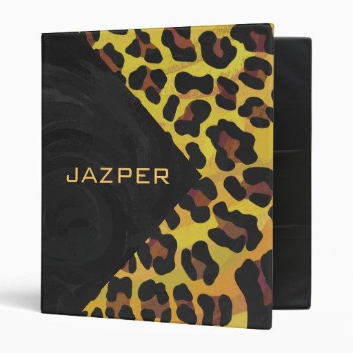"""Leopardo Brown e impresión amarilla Carpeta 1"""""""
