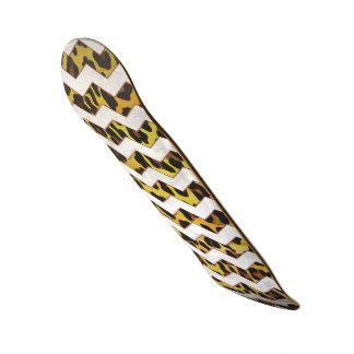Leopardo Brown e impresión amarilla de Cevron Patín