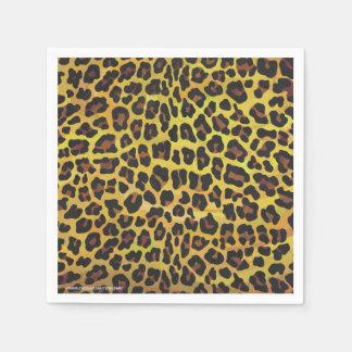 Leopardo Brown e impresión amarilla Servilleta De Papel