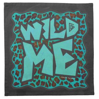 Leopardo Brown e impresión del trullo Servilleta Imprimida