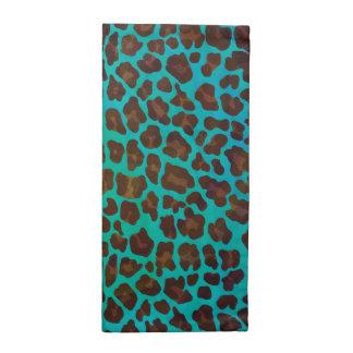Leopardo Brown e impresión del trullo Servilletas De Papel