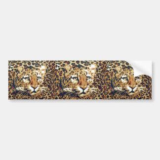 Leopardo Etiqueta De Parachoque