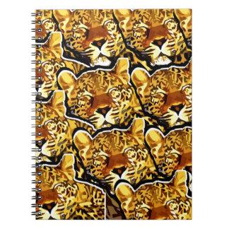 LEOPARDO COLLAGE.jpg Spiral Notebook