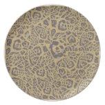 Leopardo como la impresión plato