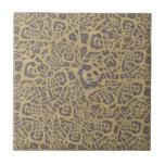 Leopardo como la impresión teja cerámica