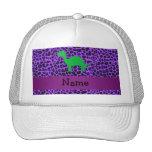 Leopardo conocido personalizado de la púrpura de D Gorros
