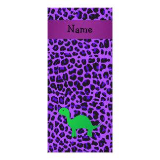 Leopardo conocido personalizado de la púrpura de D Tarjetas Publicitarias