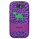 Leopardo conocido personalizado de la púrpura de galaxy SIII fundas