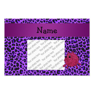 Leopardo conocido personalizado de la púrpura del  fotografías