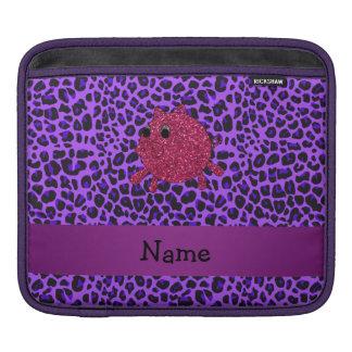 Leopardo conocido personalizado de la púrpura del funda para iPads