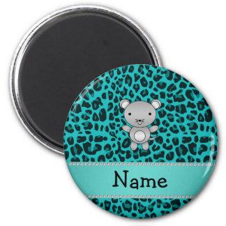 Leopardo conocido personalizado de la turquesa del iman para frigorífico
