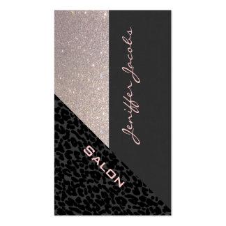 Leopardo contemporáneo de lujo elegante elegante r tarjetas de visita