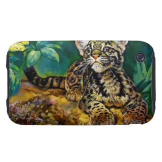 Leopardo Cub del vintage Carcasa Though Para iPhone 3