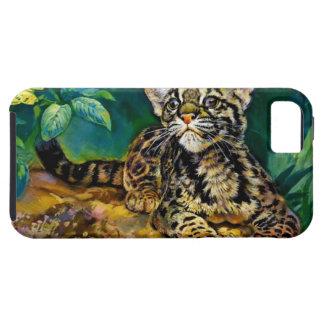Leopardo Cub del vintage Funda Para iPhone SE/5/5s