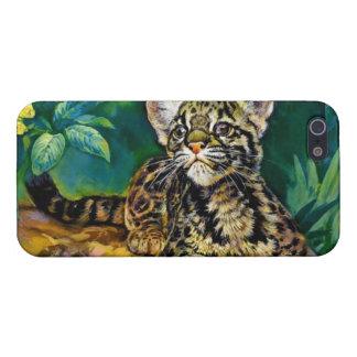 Leopardo Cub del vintage iPhone 5 Carcasa
