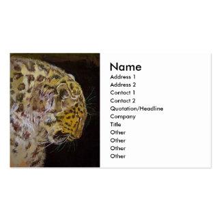 Leopardo de Amur Tarjetas De Visita