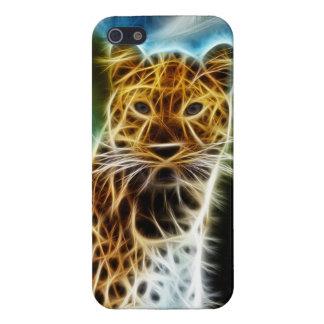 Leopardo de Fractalius iPhone 5 Carcasa