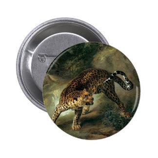 Leopardo de Jean-Baptiste Oudry Pin Redondo 5 Cm