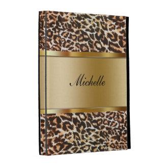 Leopardo de la caja del folio del iPad del monogra