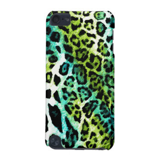 leopardo de la cal de la turquesa del tacto de 311 funda para iPod touch 5G