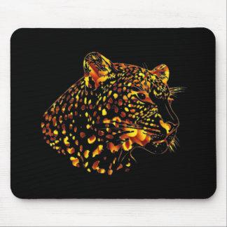 Leopardo de la flor alfombrillas de raton