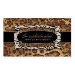 leopardo de la selva 311-Sophisticated Plantilla De Tarjeta De Visita