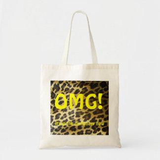 Leopardo de OMG Bolsa Tela Barata