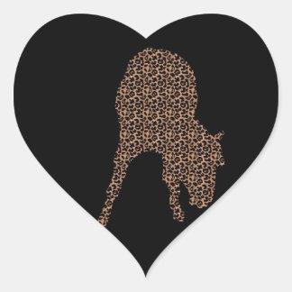 Leopardo del caballo en el pegatina negro de la