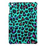 Leopardo del estallido de la turquesa iPad mini coberturas