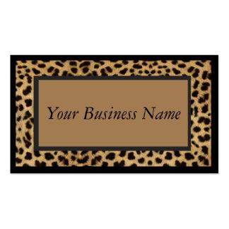 Leopardo del estampado de animales tarjetas de visita