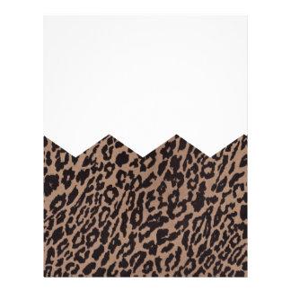 leopardo del galón plantilla de membrete