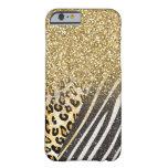 Leopardo del oro y banda de moda femeninos