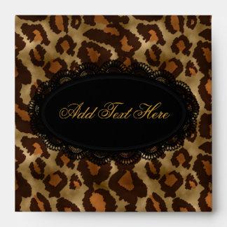 Leopardo del sobre o cubiertas del CD y del DVD