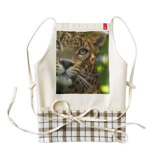 Leopardo Delantal Zazzle HEART