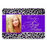 Leopardo dulce 16/purple de PixDezines Invitaciones Personalizada