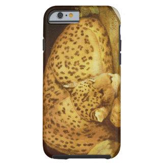 Leopardo el dormir, 1777 (esmalte en la galleta funda de iPhone 6 tough