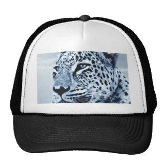 Leopardo en blanco y negro gorras de camionero