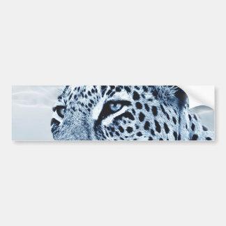 Leopardo en blanco y negro pegatina para auto