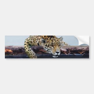 Leopardo en el árbol II Pegatina Para Auto