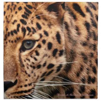 Leopardo en el diseño fresco del modelo de Navidad Servilletas Imprimidas