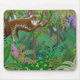 Leopardo en la selva centroamericana Mousepad
