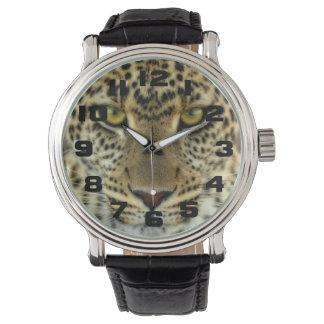 Leopardo feroz reloj