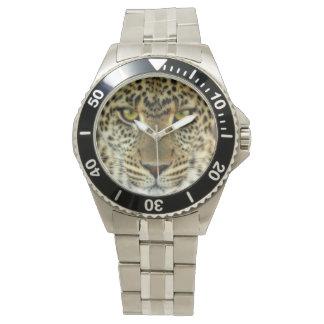Leopardo feroz relojes de mano