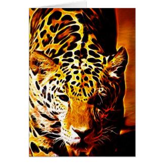 Leopardo Gotcha Tarjeta De Felicitación