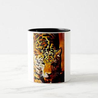 Leopardo Gotcha Taza De Dos Tonos