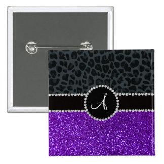 Leopardo gris oscuro del brillo púrpura del añil pin