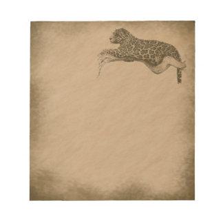 Leopardo-grunge Libreta Para Notas