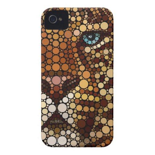 Leopardo hecho de círculos iPhone 4 Case-Mate cobertura